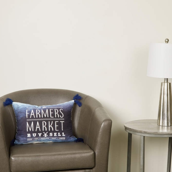 "Other - Broyhill ""Farmers Market"" Ombre Throw Pillow"